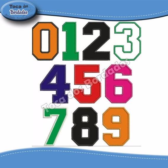 10 Pçs Numero Tecido Bordado Camisa Futebol Tam.25cm Altura