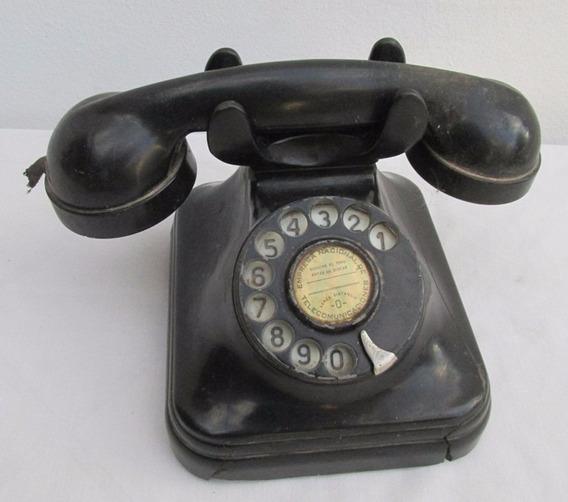 Antiguo Telefono Bakelita Negro Tipo Siemens, A Restaurar