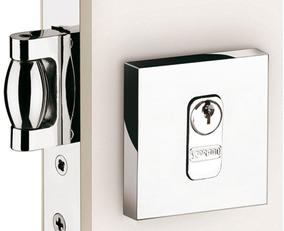 Fechadura Rolete Para Porta Pivotante Cromada Soprano