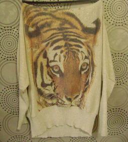 Blusão Tigre Feminino De Tricot
