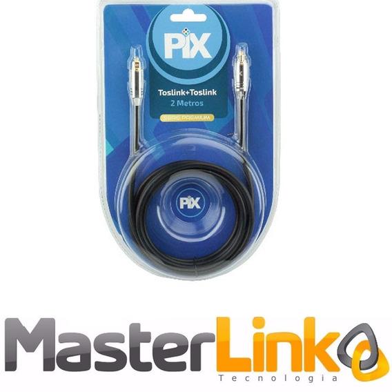Cabo De Áudio Óptico Digital Toslink 2 Metros - Premium