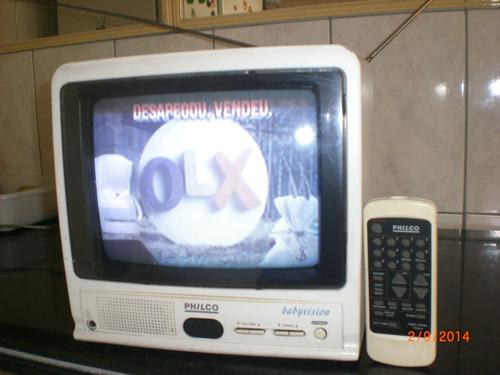 Tv 10 Polegadas Babyvision Philco Rarisima Tv Otima Tv Colec
