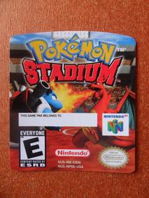 8 Label Pokemon Stadium - Etiquetas Fitas N64 100% !