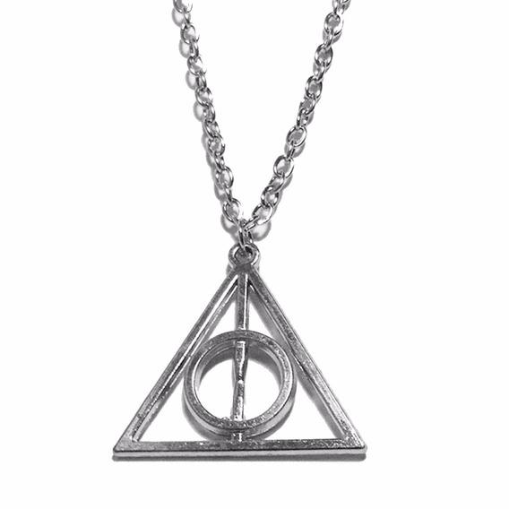 Colar Reliquias Da Morte- Prata - Harry Potter