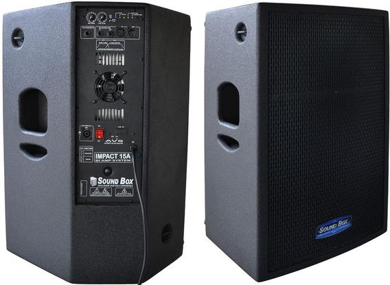 Caixa Ativa + Passiva 700 W Impact 15 Biamplificada Soundbox