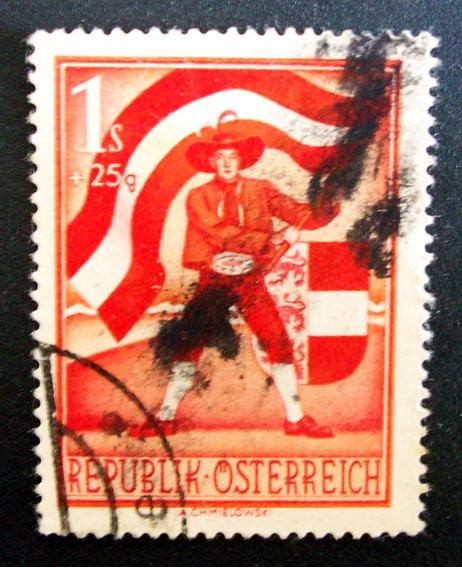 Austria - Sello Yv. 789 1s+25g Pleibiscito 1950 Usado L3636