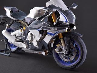 Moto Yamaha Yzf-r1m (papercraft- Modelo Para Armar)