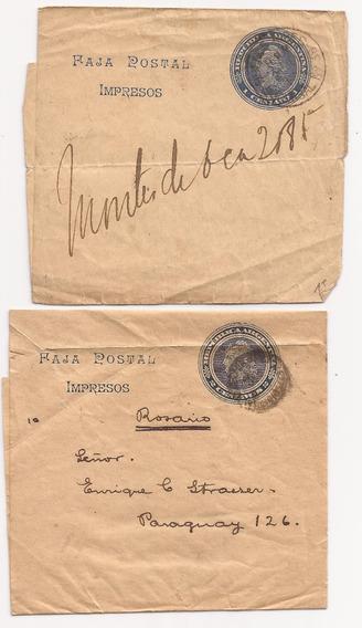 Argentina 1904 Dos Fajas Postales Muy Interesantes - 012