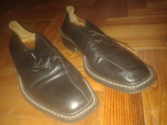 Zapatos Sarkany Hombre Cuero Negro Acordonado N42