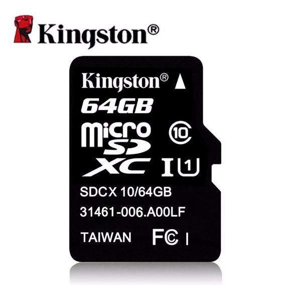 Cartão De Memoria Kingston Classse 10 - 64gb - Frete Fixo