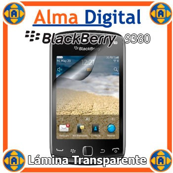 2 Lamina Protector Pantalla Blackberry Curve 9380 Transparen
