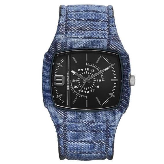 Diesel - Relógio Masculino Azul Pulseira Em Silicone E Ca...