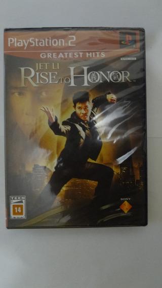 Rise To Honor Para Ps2 - Novo E Lacrado Com Frete Grátis