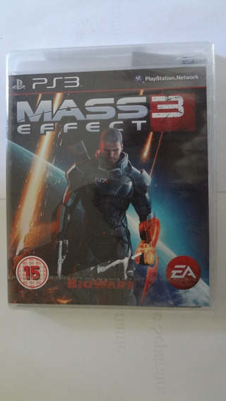 Jogo Mass Effect 3 Para Ps3 (black Label) - Novo E Lacrado