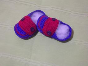 15fe82c654 Sapatinho Para Bebe Em Crochê Mocassim - Calçados de Bebê no Mercado ...