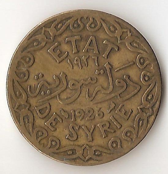 Siria Francesa, 5 Piastres, 1926. Vf