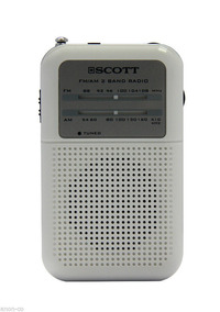 Rádio Receptor Portátil Scott Rx8 Am Fm Duas Faixas Branco