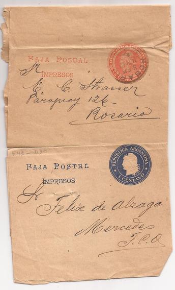 Argentina 1904 Dos Fajas Postales Muy Lindas - 014