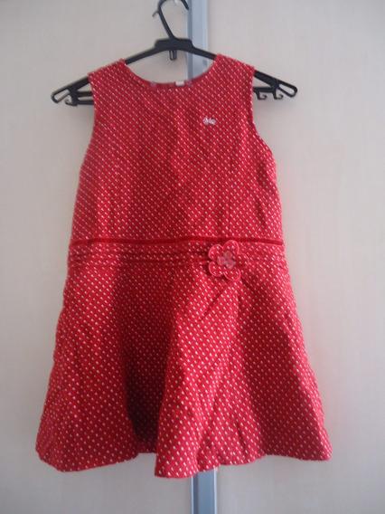 Vestido Infantil De Festa C/ Gola Removível 4 A 6 Anos Usado