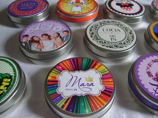 Latas Pastillero Personalizadas, Ideal Souvenirs X 10 Unid