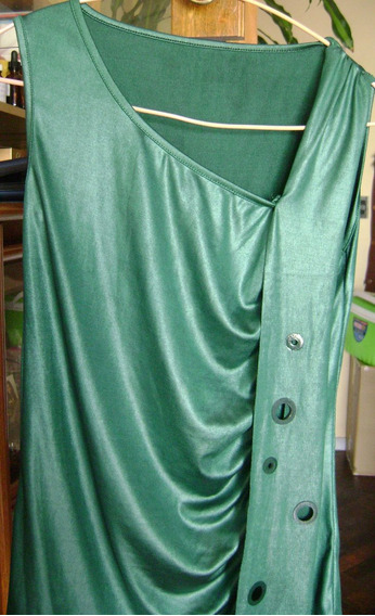 Remera Color Verde Sin Mangas Talle S