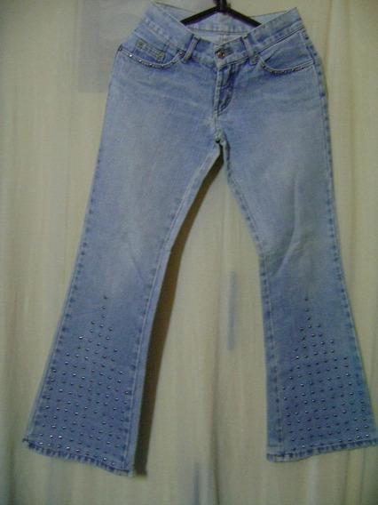 Calça Jeans Vide Bula 36 Com Detalhes