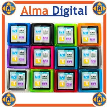 Forro Silicon iPod Nano 6 6g Estuche Protector Goma Suave