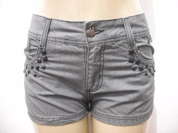 Shorts Jeans Cinza Dona Florida Tam 38 Usado Bom Estado