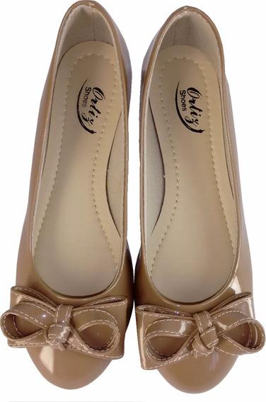 Sapatilha Sandália Sapato Feminino Marrom Verniz C Laço Luxo