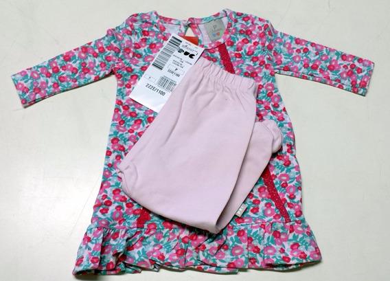 Vestido Bebê Manga Longa