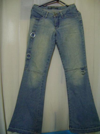 Calça Jeans Sawary 36 Com Argolas