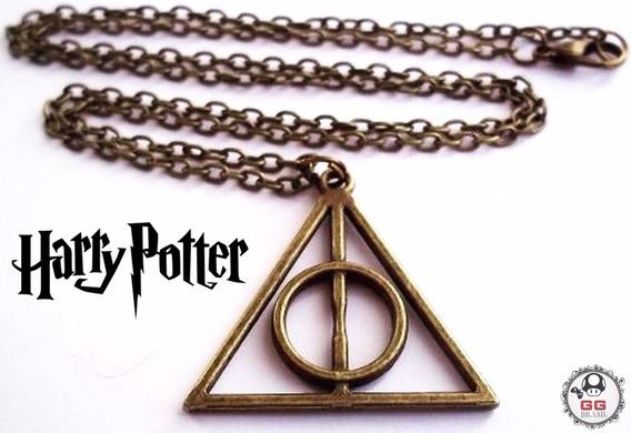 Colar Reliquias Da Morte Harry Potter Triangulo