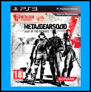 Metal Gear Solid 4 Guns Of The Patriots Ps3