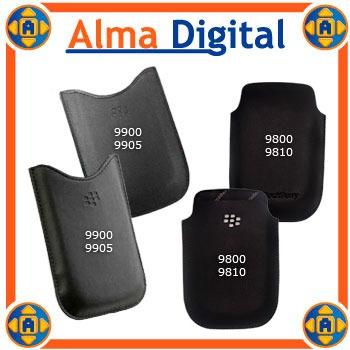 2x Funda Cuero Blackberry Torch 9800 9900 Bold5 Estuche Prot