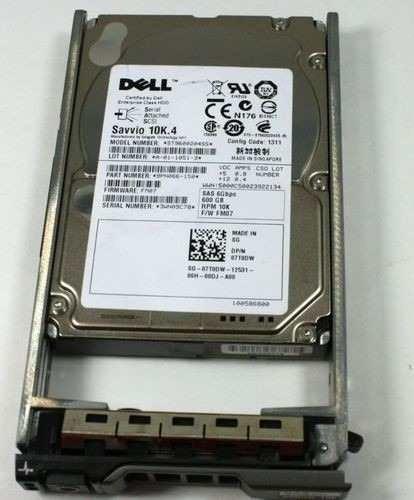 Hd Dell R420 R710 R630 600gb 10k Sas 2.5 07t0dw St9600204ss
