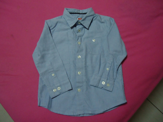 Infantil-camisa Masculina Mangas Longas-seminova