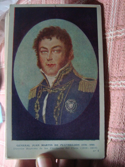 Antigua Tarjeta Postal Juan M De Pueyrredón Prócer Kapeluz