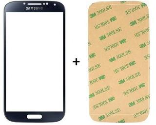 Vidro Tela Touch Preto Samsung Galaxy S4 + Adesivo Zerado