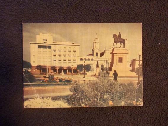 508-postal Uruguay Hotel Salto Plaza 18 Julio Artigas1950