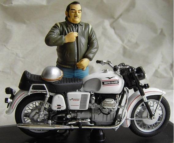 Miniatura Moto Guzzi V7 Spezial E Figura Joe Bar Solido 1/18