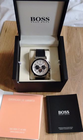 Relógio Hugo Boss Original, Cronógrafo, Pulseira De Borracha
