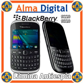 2 Lamina Antiespia Pantalla Blackberry Curve 9220 9320 Gemin