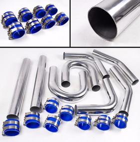 Tuberia Intercooler Aluminio 2.5 Coples Silicon Turbo Gcp