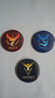 Promoção- Pokemon Go - Chaveiros - Instinct Mystic Valor