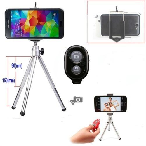 Tripé P/ Câmera Fotográfica / Celulares Obturador Bluetooth