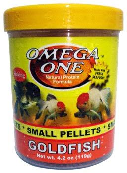 Imagen 1 de 1 de Omega One Small Goldfish Pellets 4.2oz.