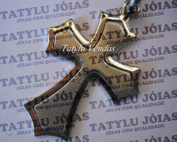 Colar Crucifixo - Cruz Aço Inoxidável + Corrente Grátis