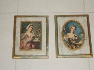 Cuadros Antiguos Florentine Italianos Damas Victorianas