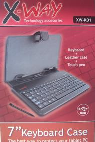 X Way Case Para Tablet 7 Com Teclado E Caneta