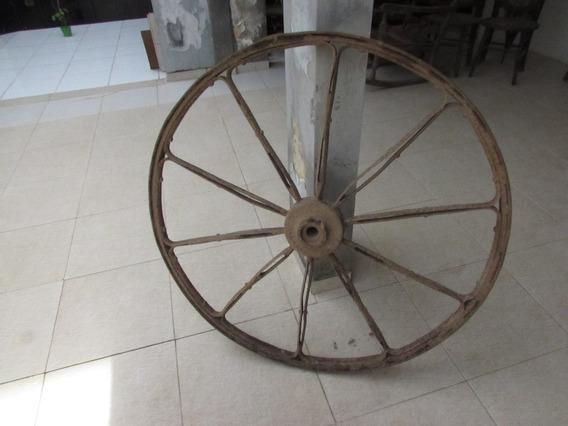 Roda De Carroça Antiga De Ferro;carro De Boi;carruagem